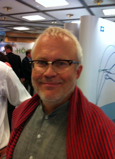 Docent Håkan Brorson på kirurgernas mässa i Linköping.
