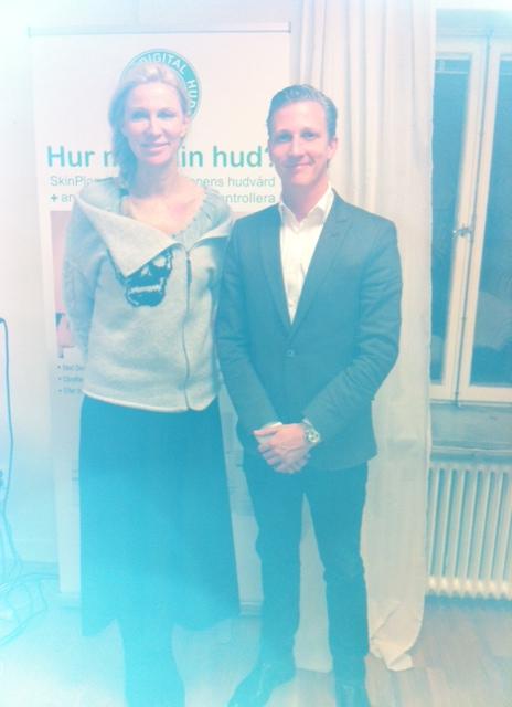 Jag och Claes, två uppfinnare som fick snacka lite om våra patent.